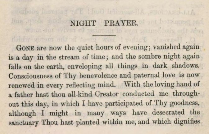 Detail of Marcus Heinrich Bresslau's Night Prayer.