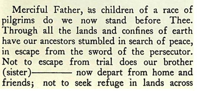 detail of a prayer before starting on a journey (Abraham Burstein 1927) cropped