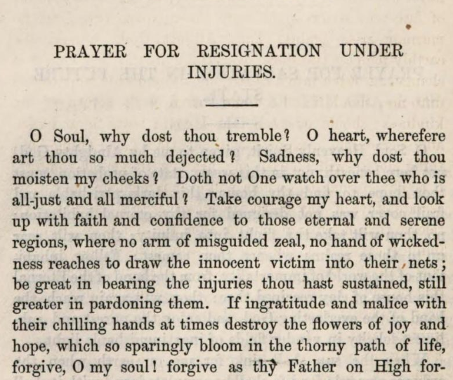 Detail of Marcus Heinrich Bresslau's  Prayer for Resignation Under Injuries