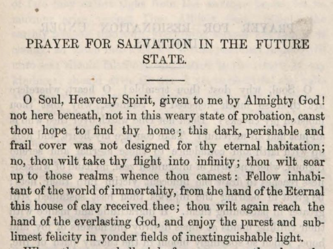 Detail of Marcus Heinrich Bresslau's Prayer for Salvation in the Future State