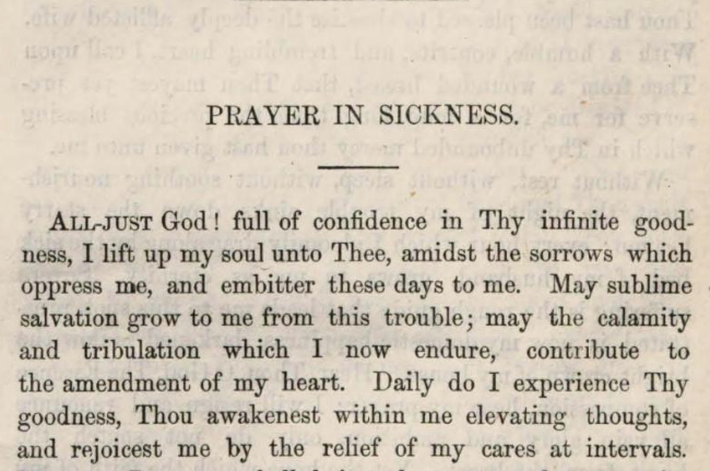 Detail of Marcus Heinrich Bresslau's Prayer in sickness