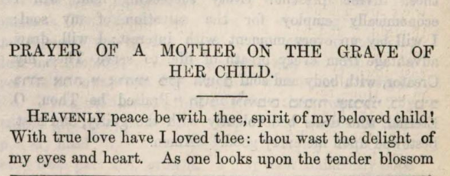 Detail of Marcus Heinrich Bresslau's Prayer of a Mother on the Grave of Her Child