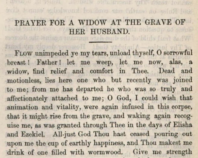 Detail of Marcus Heinrich Bresslau's Prayer for a Widow at the Grave of Her Husband
