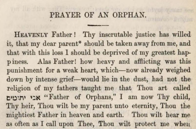 Detail of Marcus Heinrich Bresslau's Prayer of an Orphan