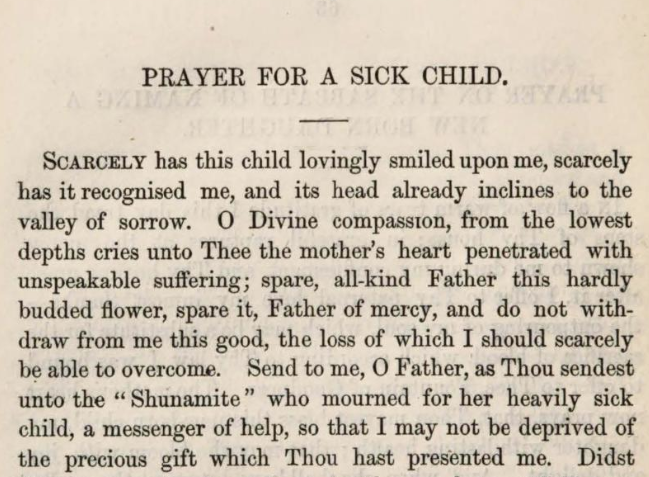Detail of Marcus Heinrich Bresslau's Prayer for a Sick Child