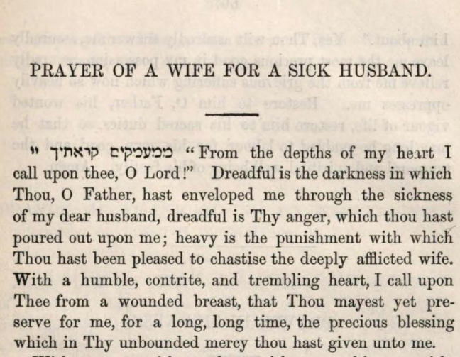 Detail of Marcus Heinrich Bresslau's Prayer of a Wife for a Sick Husband