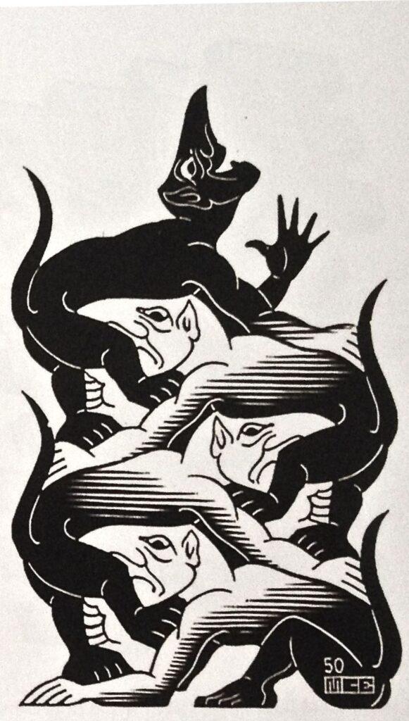 Devil's Vignette (1950) by MC Escher