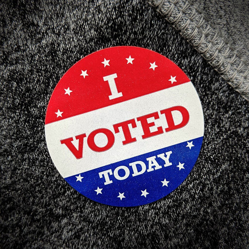 """I voted today"" (credit: Steve Rainwater, license: CC BY-SA)"