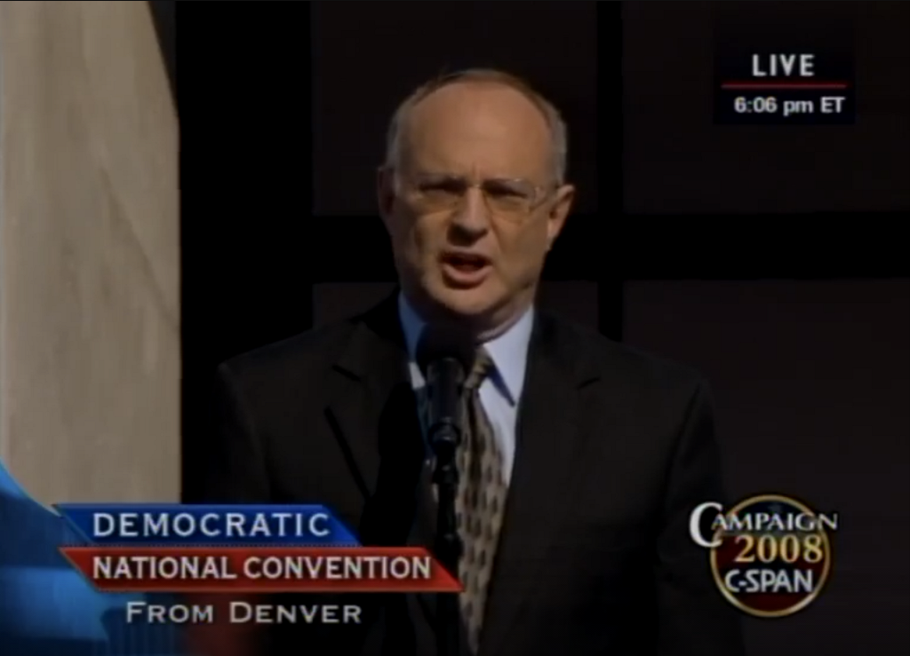 Invocation at DNC 2008 by David Saperstein (C-SPAN screen capture)
