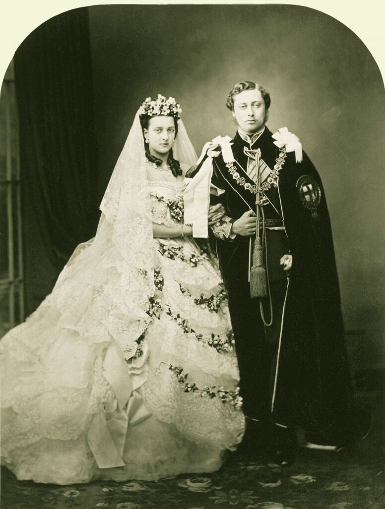 The wedding of Albert Edward, Prince of Wales (later King Edward VII), and Alexandra of Denmark, London, 1863