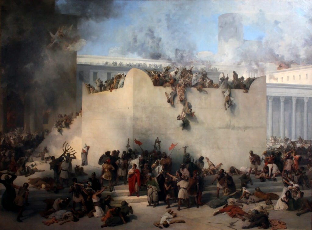 The destruction of the Temple of Jerusalem. by Francesco Hayez (1867)