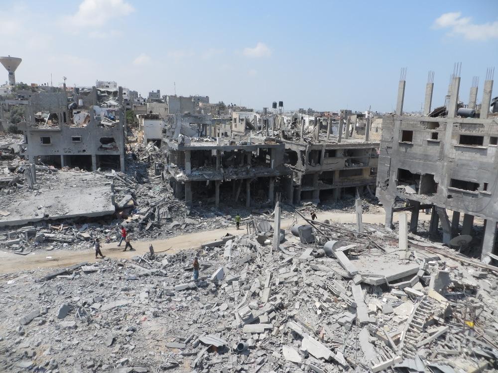 Ruins in Beit Hanoun, August 2014 (credit: btselem, license: CC BY)