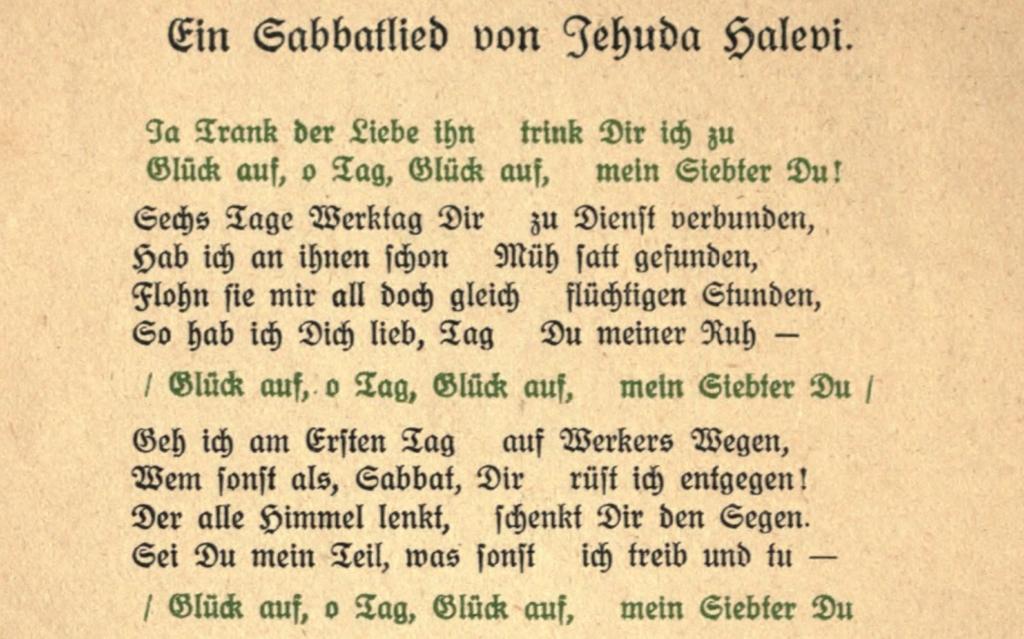 hausliche-feier - ein sabbatleid von Jehuda Halevi (franz rosenzweig 1921) - cropped