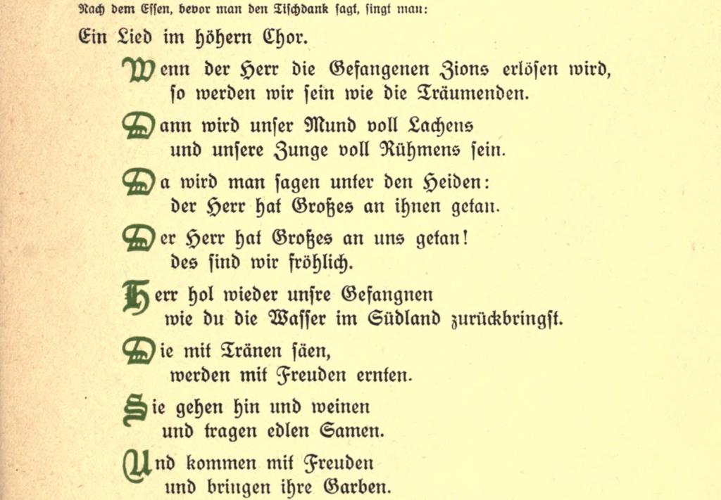 hausliche-feier - psalms 126 (franz rosenzweig 1921)