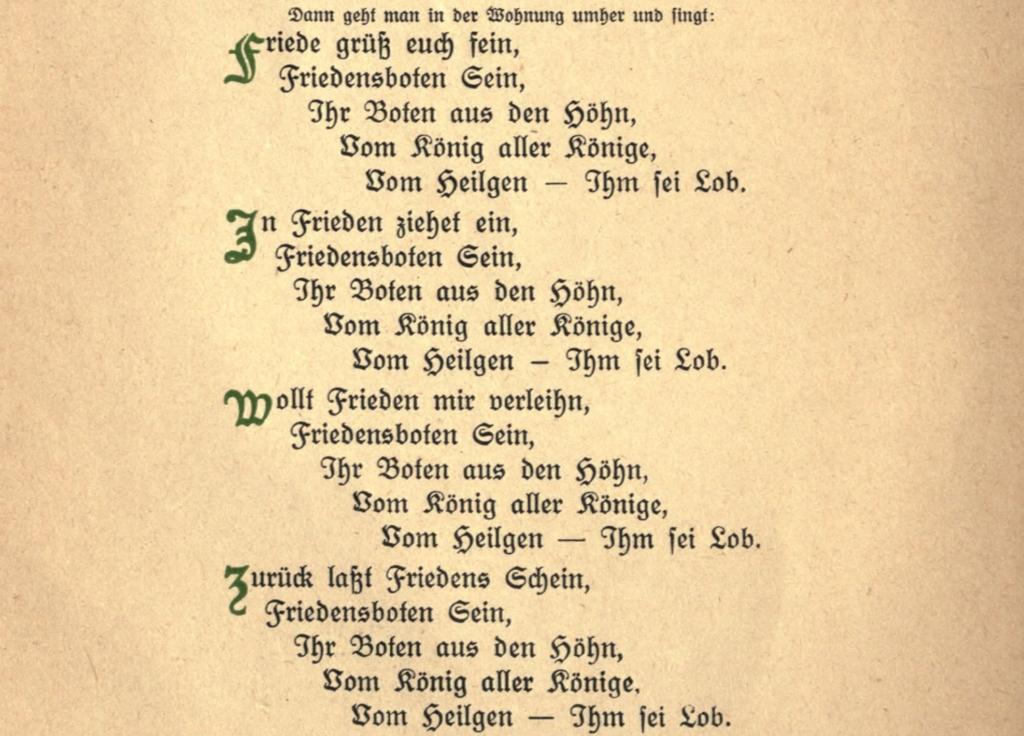 shalom aleikhem in hausliche feier (franz rosenzweig 1921)