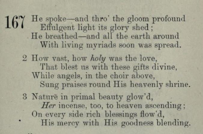 He spoke and Thro' the Gloom Profound, a hymn for Shabbat by Cordelia Moïse Cohen (Ḳ.Ḳ. Beth Elohim 1842)