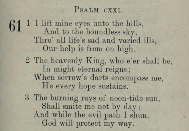 I Lift Mine Eyes Unto the Hills (Psalms 121), a hymn to Hope in God by Cordelia Moïse Cohen (Ḳ.Ḳ. Beth Elohim 1842)