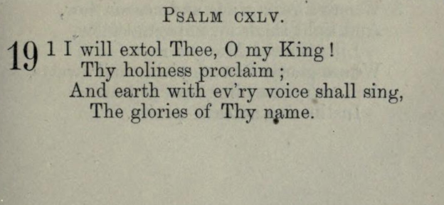 I Will Extol Thee My King! (Psalms 145), a hymn on Divine Mercy by Cordelia Moïse Cohen (Ḳ.Ḳ. Beth Elohim 1842)