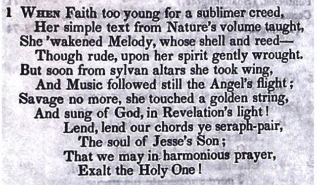 When Faith, too young for a sublimer creed - Penina Moïse Cohen (1842) - cropped